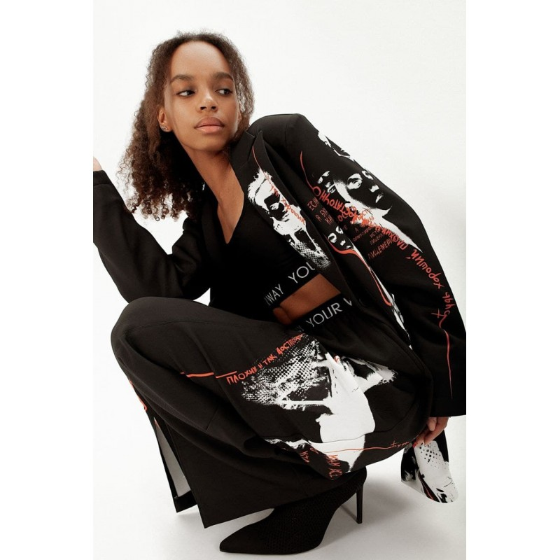 Suit for women black with print Fall-Winter 2021-22