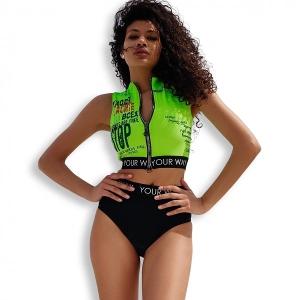 Crop-top without sleeves Lime